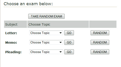 How the California Bar Exam simulator works, choose a question.